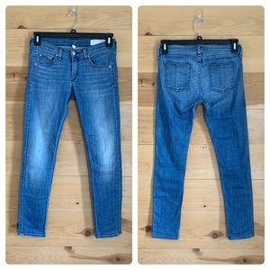 Rag & Bone Skinny Leg Capri Jeans Medium Wash 25